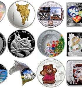 Серебряные монеты разные