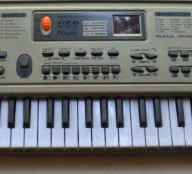 Синтезатор детский с микрофоном и USB