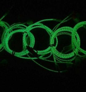 Светонакопительные наушники, фосфорятся в темноте