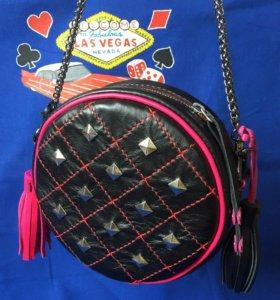 Женская сумка , круглая