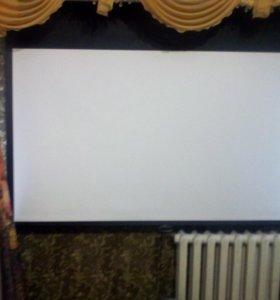 Проектор+экран кожанный с системой реверса+ кабель
