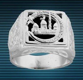 Мусульманский мужской перстень,серебро,19.0р,11.5г