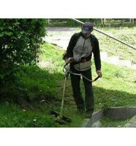 Покос травы, уборка территории
