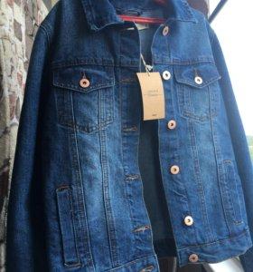 Новая джинсовая куртка,плотная крепкая джин.Срочно
