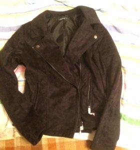 Новая замшевая куртка косуха 44