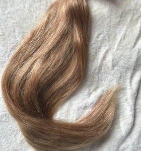 Натуральные волосы на трессе славянка 120 гр