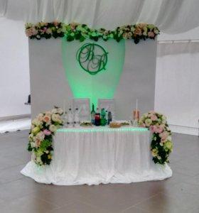 Оформление свадеб  торжественных мероприятий