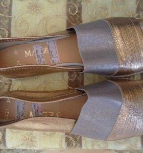 Туфли летние кожаные новые 38 размер