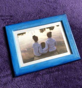 Голубая рамка для фото 13x18
