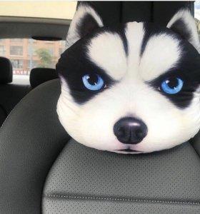 3D подголовники в авто