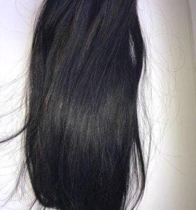 Натуральные волосы на трессе LUX ручной работы