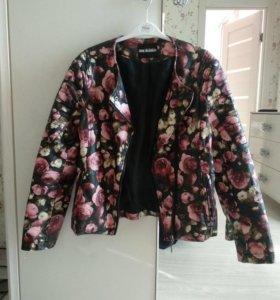 Кожаная куртка (очень красивая)