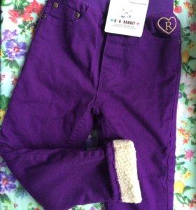 Новые утеплённые джинсы на девочку