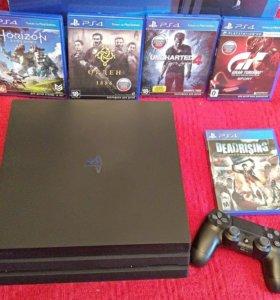 Продается PlayStation 4 Pro 1tb + 26 игра