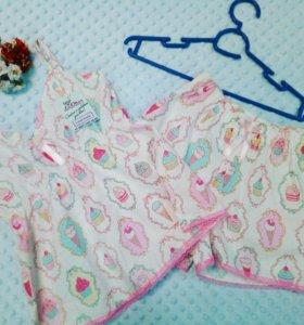 Пижама женская хлопок и кружево.Handma разм.42-48.