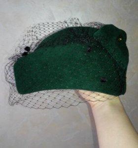 Шляпка с вуалью ручная работа