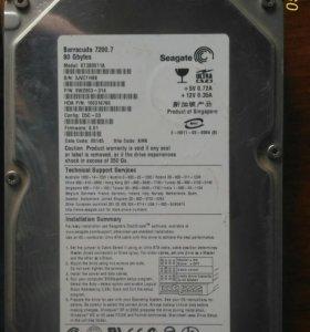 Жесткий диск Seagate BarraCuda 7200.7 на 80Гб