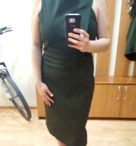 Новое платье Mango цвета хаки (46-48)
