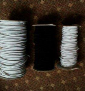 Шляпная резинка, вощеный шнур.