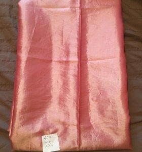 Тафта розовая с белым отливом