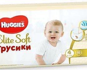 Huggies elite soft 4 (60штук)