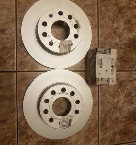 Тормозные диски и колодки для Volkswagen