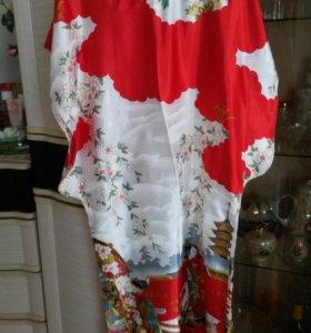 платья кимоно разных цветов и размеров