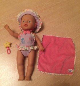 Кукла My Little baby born Бэби Борн я умею плавать