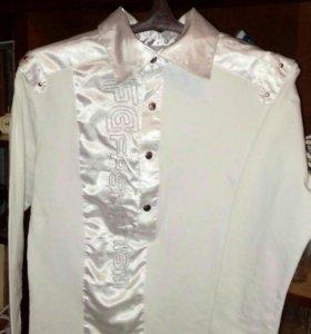 Рубашка с атласными вставками