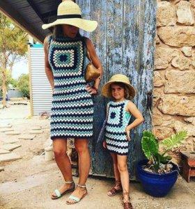 Платье для мам и дочек
