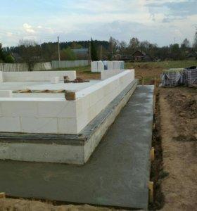 Фундамент с  погребком инженерными коммуникациями