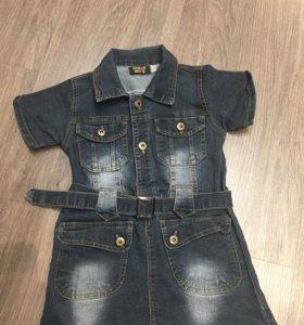 Джинсовое платье р.128
