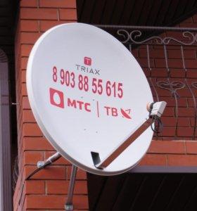 Установка спутникового и эфирного (цифрового) ТВ