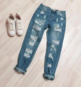 Новые рваные джинсы befree