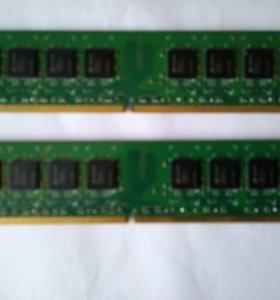 Оперативная память ddr2. 2 планки по 1 gb