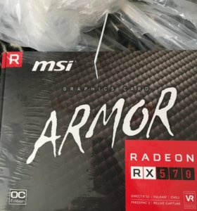 Видеокарта MSI Armor Radeon rx570 4gb