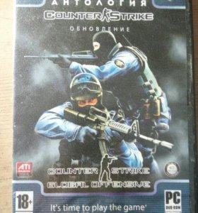 Диск для пк Антология Counter Strike обновление