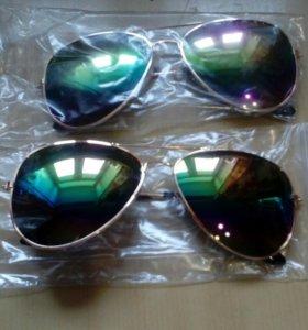 Очки зеркальные солнцезащитные новые