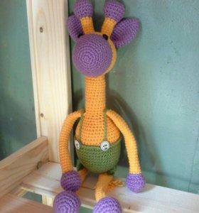 Вязаная игрушка. Жираф.