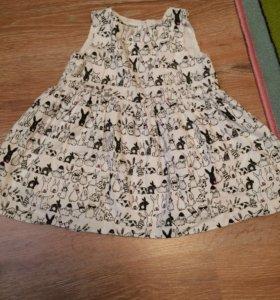 Платье на девочку размер 80-86 см