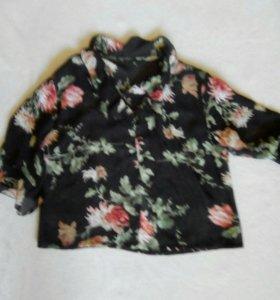 Шифоновая блузка в цветах!