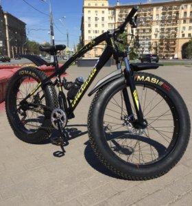 Велосипед Fat Bike 26' на спицах чёрный