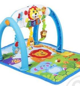 Развивающий коврик + игровой центр 5 в 1