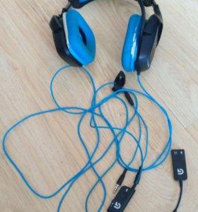 Наушники 7.1 Logitech G430 синие
