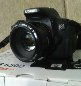 Canon EOS 650D + объектив 50mm F/1.8 II