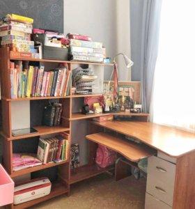 Стол компьютерный письменный и стеллаж