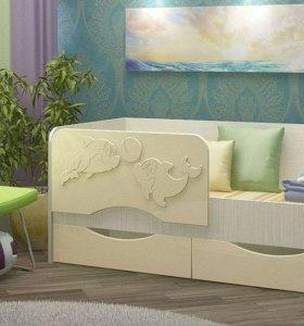 кровать ваниль дельфин. в наличии. доставка