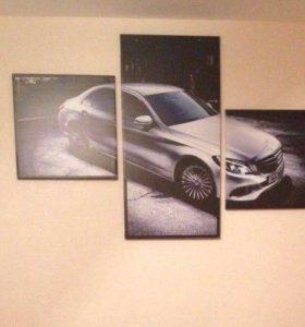 Модульная картина Mercedes Benz C class