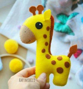 Мягкая игрушка. Жираф