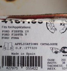 Колодки тормозные задние Ford Fusion, Fiesta